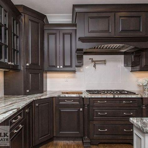 42+ top dark brown kitchen cabinets espresso backsplash