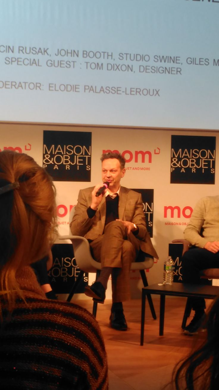 Tom Dixon in today's conference on British Rising Talents at #mo17