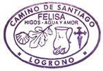 Sello emblemático de Felisa, una señora que vivía en las afueras de Logroño y recibía los peregrinos a la puerta de su casa, bajo una higuera. Además de higos, agua y Amor ¡también ofrecía galletas!