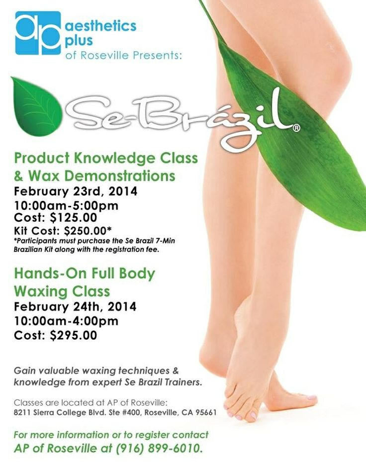 Se Brazil Wax Training - Aesthetics Plus Roseville, CA
