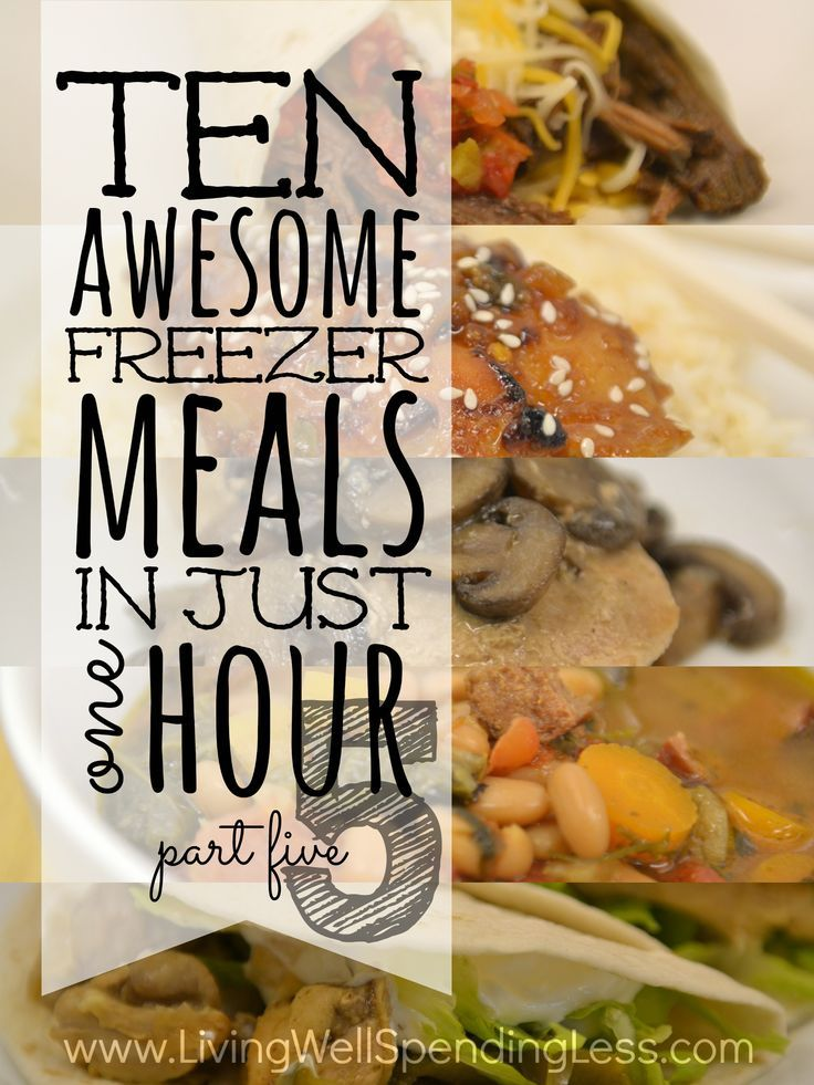 """Craving flavor but short on time?  This brand new 10 Meals in an Hour plan shows you exactly how to whip up TEN delicious home cooked meals in about an hour!  All five """"flavorful favorites"""" have been family-approved, are easy to cook and use budget-friendly ingredients!  This super helpful post includes everything you need, including a printable shopping list, printable prep & prepare instructions, printable labels, and five delicious recipes!"""