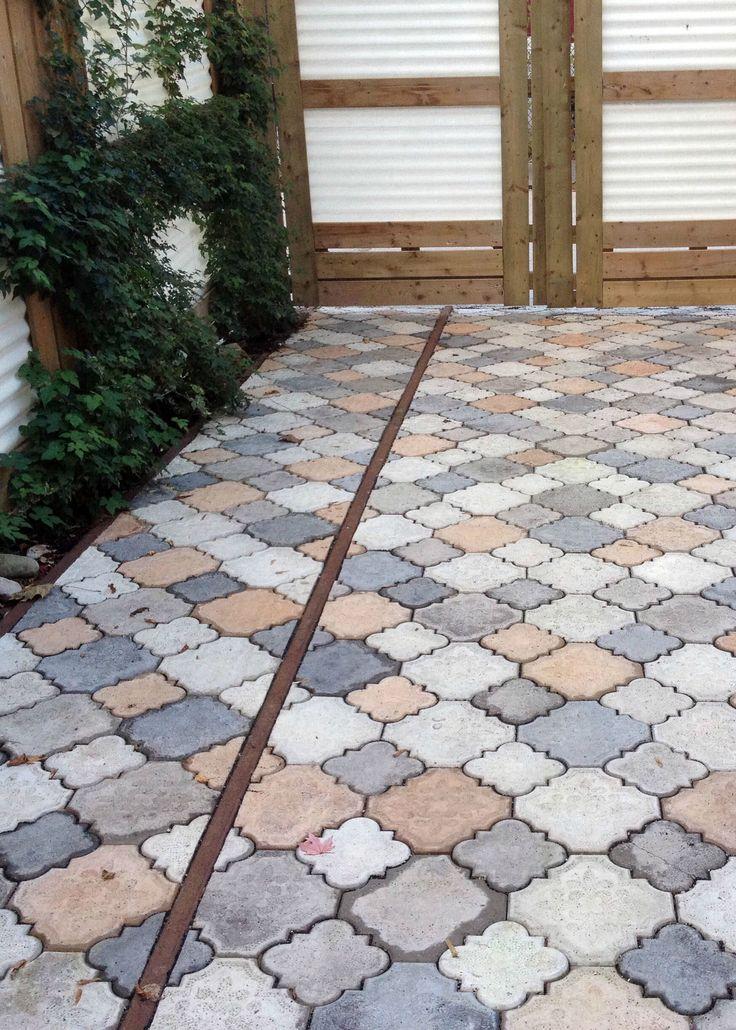 Diy cast concrete patio stones concrete paver patio