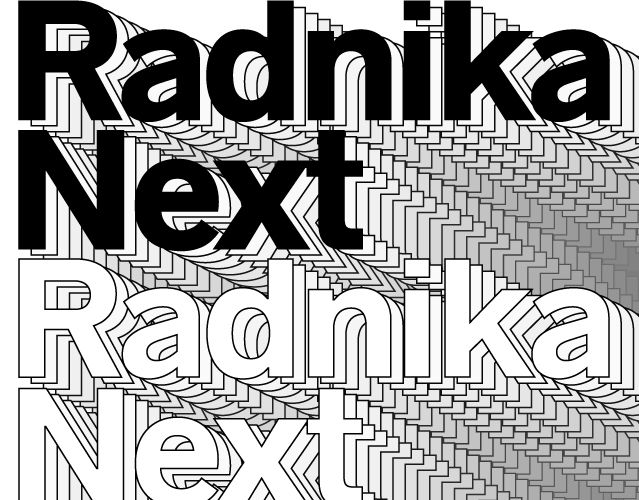 """Check out this @Behance project: """"Radnika™ Next Typeface"""" https://www.behance.net/gallery/49692165/Radnika-Next-Typeface"""