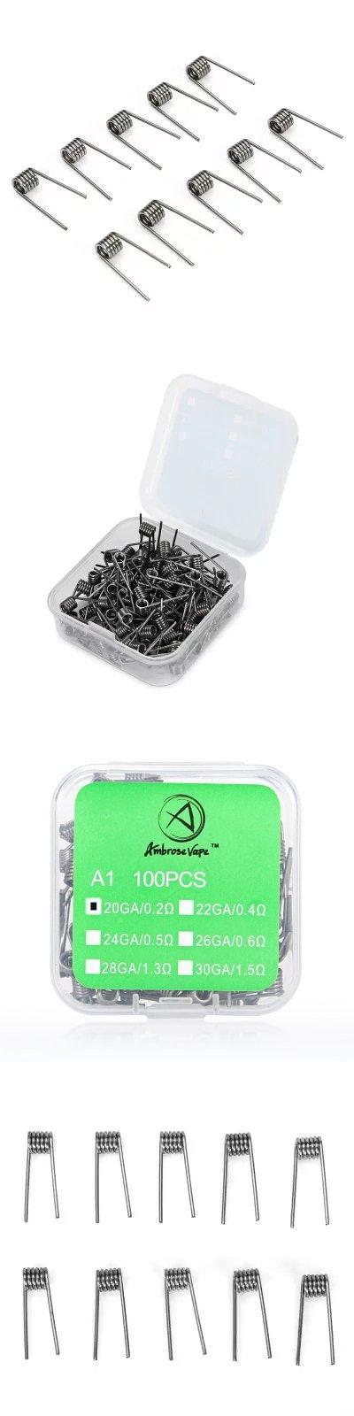 AMBROSEVAPE 0.2 ohm Coils for E Cigarette ( 100pcs ) -$3.74