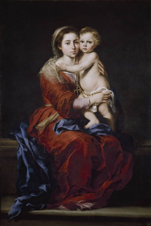 "Bartolomé Esteban Murillo ( Sevilla 1617-1682) "" La Virgen con el niño"" The Prado Museum. Madrid"