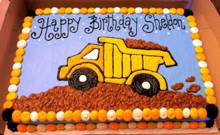 Dump Truck Sheet Cake Related Keywords & Suggestions - Dump Truck ...