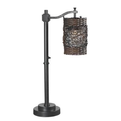 With its combination of an oil-rubbed bronze finish and a dual-weave shade, our Brent Outdoor Table Lamp is the perfect transitional piece for lighting        up your outdoor living room. This durable and weatherproof light will add delightful texture and uniquely filtered light to your deck or porch.                            Oil-rubbed bronze finish                            Woven resin drum shade                            Suitable for indoor or outdoor use                   ...