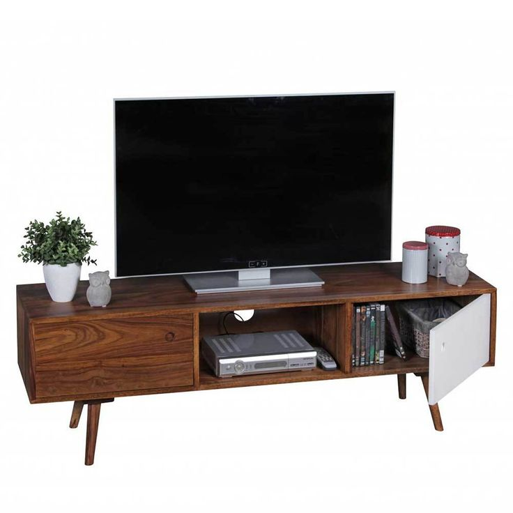 Vintage TV Board aus Sheesham Massivholz Retro Jetzt bestellen unter https moebel ladendirekt de wohnzimmer tv hifi moebel tv lowboards uid uded e a
