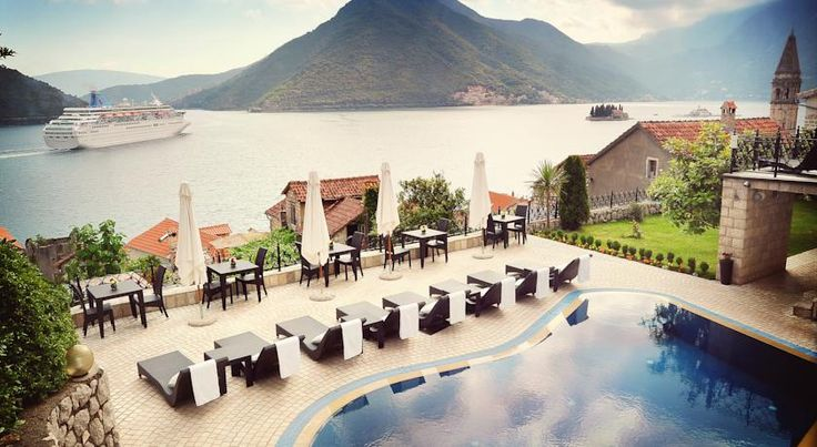 Per Astra, one of the top Kotor Bay hotels, overlooks Perast.
