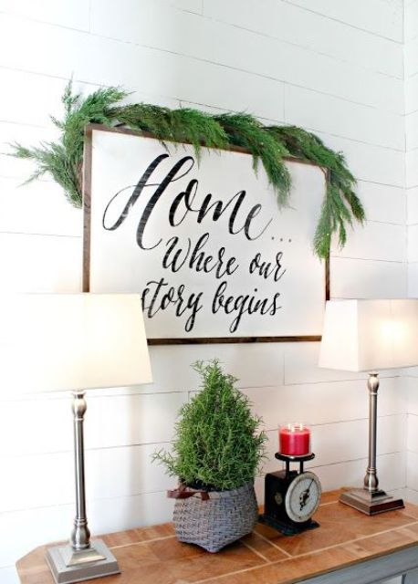08 touches of evergreen will make your entryway cooler - DigsDigs