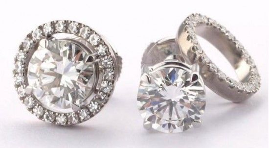 To clean diamond jewelry simply oak for 20 minutes in a solution of one cup warm water and 1/4 cup ammonia. Then gently scrub with a soft-bristle toothbrush, getting into the small areas between the diamond and the setting. Rinse with warm water, and lay on a tissue to dry. If your diamonds are set in platinum, this method will also clean the setting.