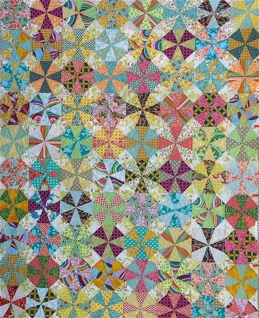 Kaleidoscope Quilt by clothwork, via Flickr