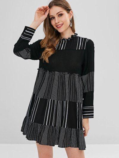 e4677fbe46 Cutest Winter Dress- Casual Stripes Tunic Mini Dress