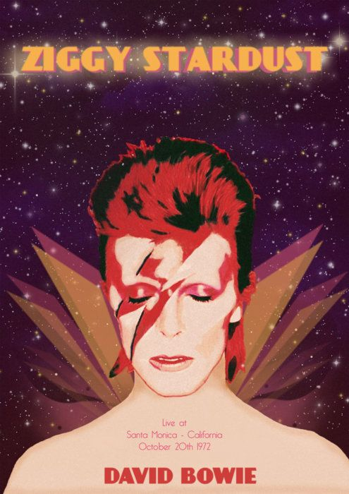 Ziggy Stardust - David Bowie Event Poster 70's
