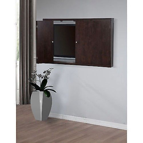 Wall mount cabinet 50 inch flat screen tv 50 conceal for Wall mounted tv enclosure