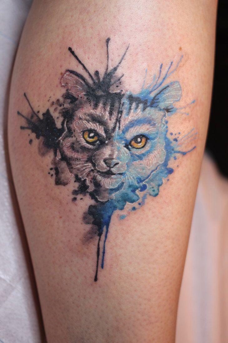 2 face cat by ficek-art.deviantart.com on @DeviantArt