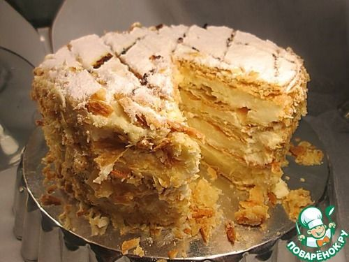 "Traditional cake ""Napoleon"" in the English style - recipe"