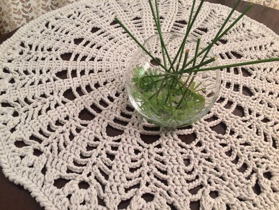 Crochet rug Tulips by ZHandMade4you on Etsy