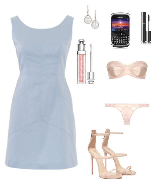 Anastasia Steele - SIP Pale Blue Shift Dress by ohmyfifty on Polyvore