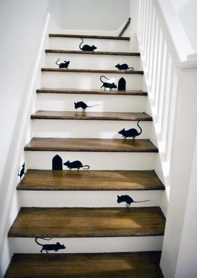 25 Brilliant Ways to Decorate Your Stairs via Brit + Co.