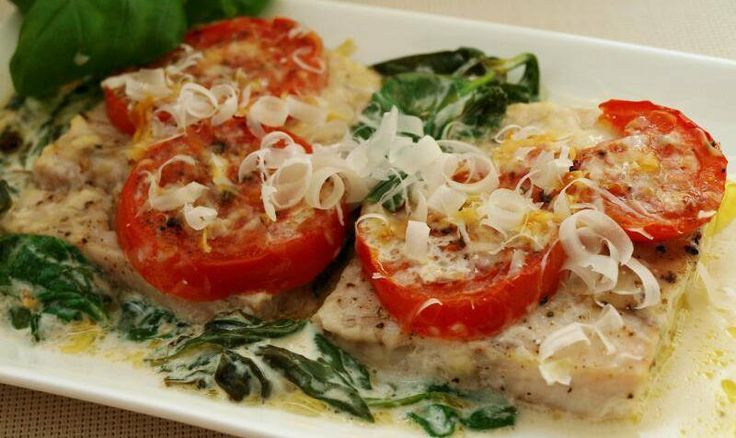 Rybí filé na špenátovo-sýrovém lůžku