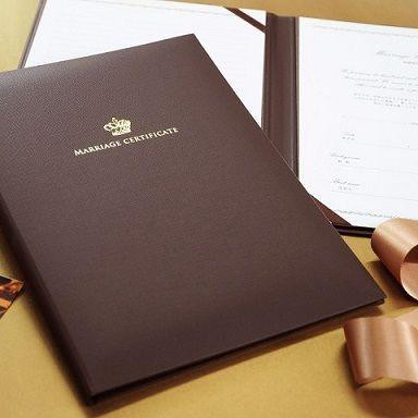 \大人の王冠/「結婚証明書」クラウン  http://www.farbeco.jp/marriage-certificate.html