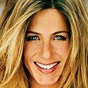 While Jennifer Anniston with her medium/fair coloured hair, eyes and skin is also a low contrast.
