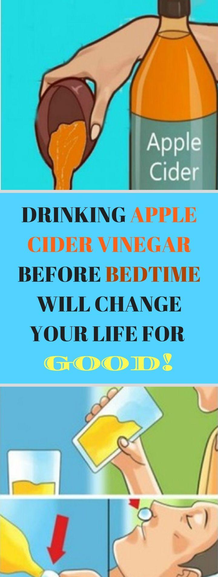 DRINKING APPLE CIDER VINEGAR BEFORE BEDTIME WILL CHANGE YOUR LIFE FOR GOOD*!!