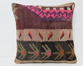 20x20 kilim pillow 20x20 boho chic pillow large pillow case gypsy pillow cover large kilim pillow throw pillow couch pink pillow rug 27229