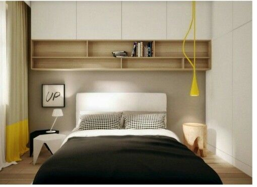 les placards au dessus du lit les rideaux la note de couleur s lection ambiances interieurs. Black Bedroom Furniture Sets. Home Design Ideas