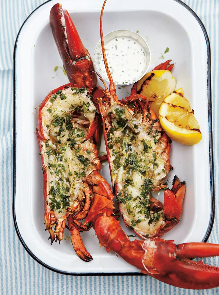 Ricardo's recipe : Grilled Lobster with Lemon and Herbs