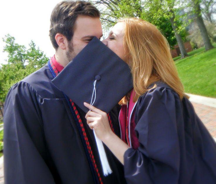 Adorable graduation shot of college sweethearts!!