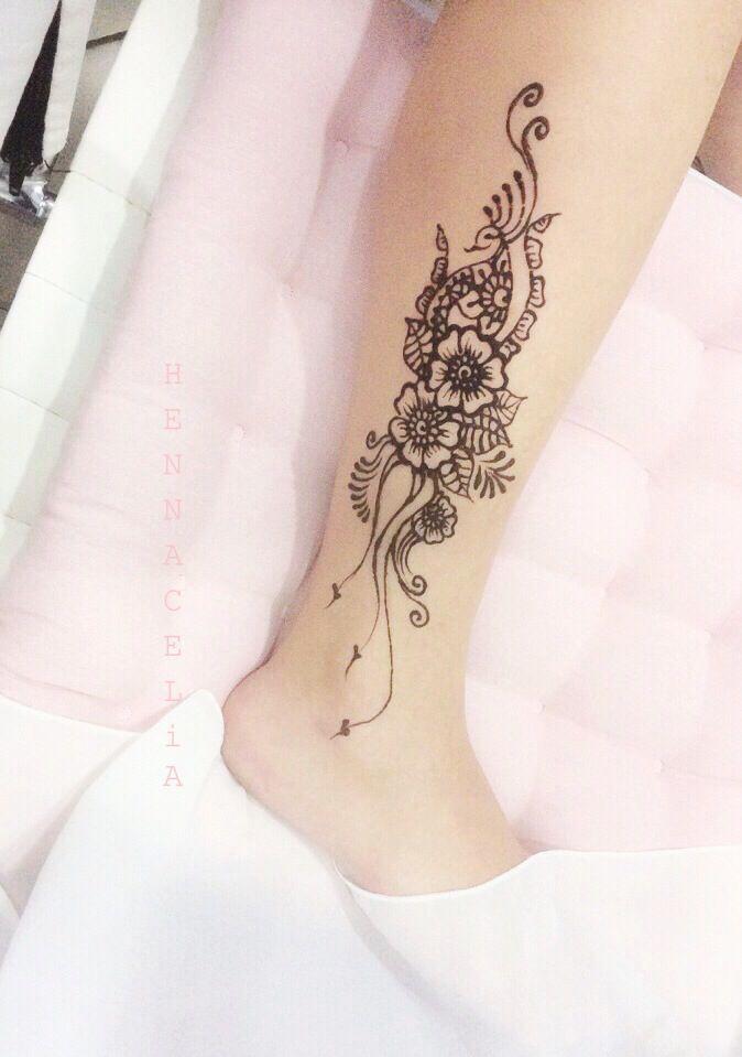 Mehndi Leg Tattoos : Elegant henna patterns leg makedes