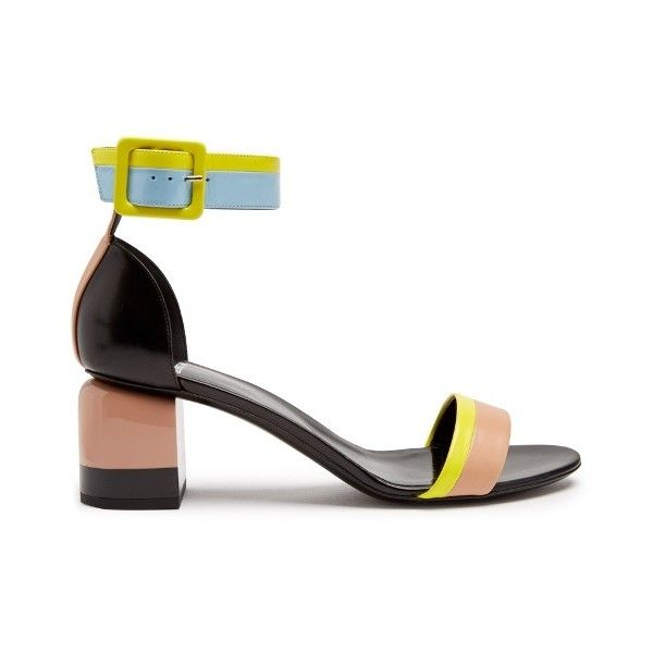 Pierre Hardy Memphis colour-block sandals (£435) ❤ liked on Polyvore featuring shoes, sandals, nude multi, chunky shoes, pierre hardy sandals, nude strappy shoes, block-heel sandals and strap sandals