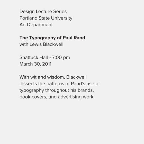 Typographic hierarchy example 3