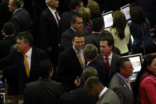 El Senador Andres Garcia Zuccardi y los Senadores Antonio Navarro Wolf y Juan Manuel Galán