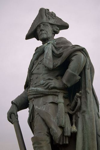 """One of the most famous kings in German history: Frederick II., King of Prussia, also called """"Frederick The Great."""""""