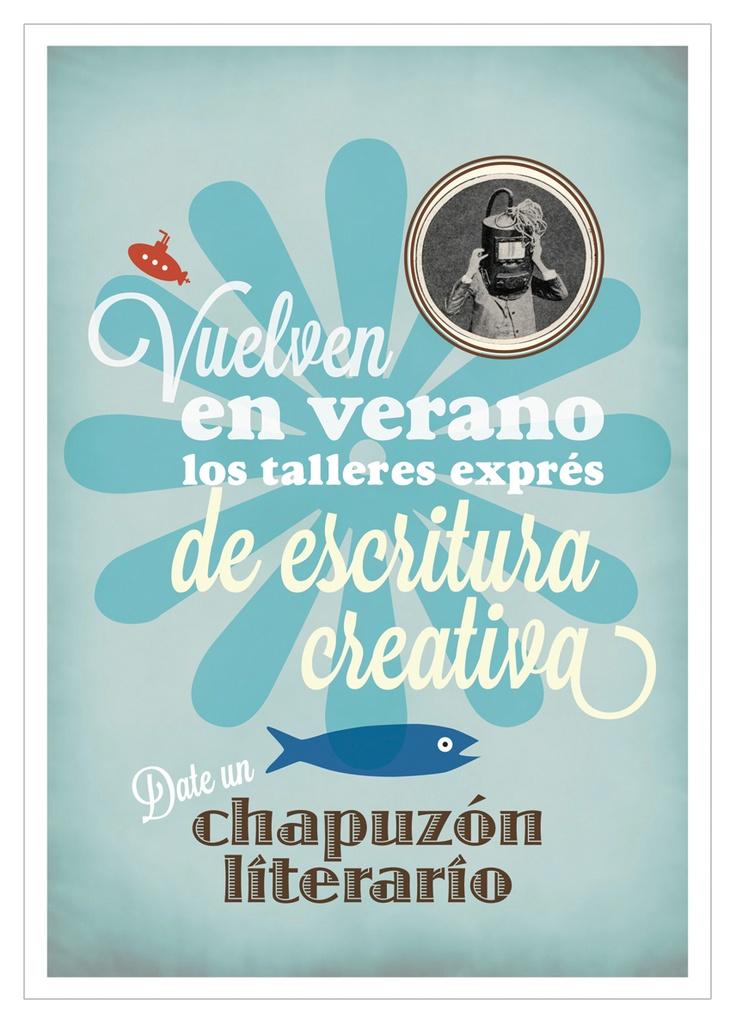 Flyer para los cursos de verano del Taller de escritura Creativa Clara Obligado impartidos por Camila Paz