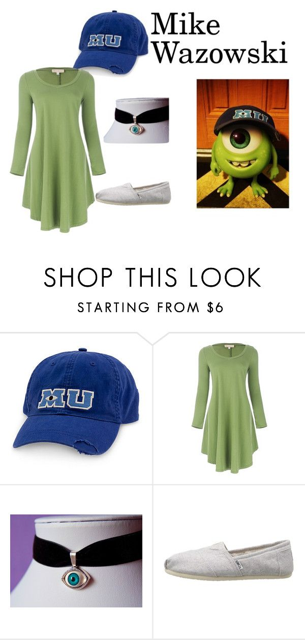 """Young Mike Wazowski"" by thelostprincess ❤ liked on Polyvore featuring TOMS, disney, disneybound, pixar and disneystyle"