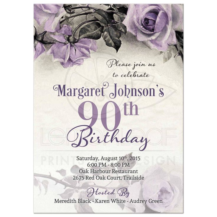 Sample Invitations For 90th Birthday Party 80th