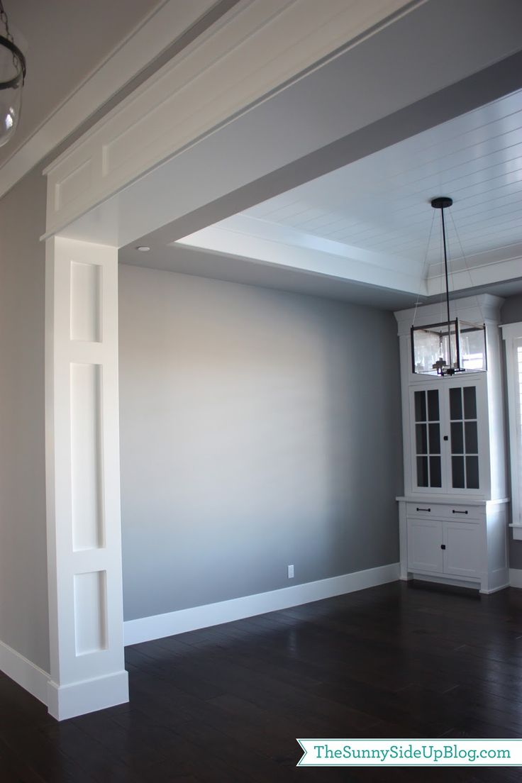 craftsman board and batten style door arch casing - The Sunny Side Up Blog