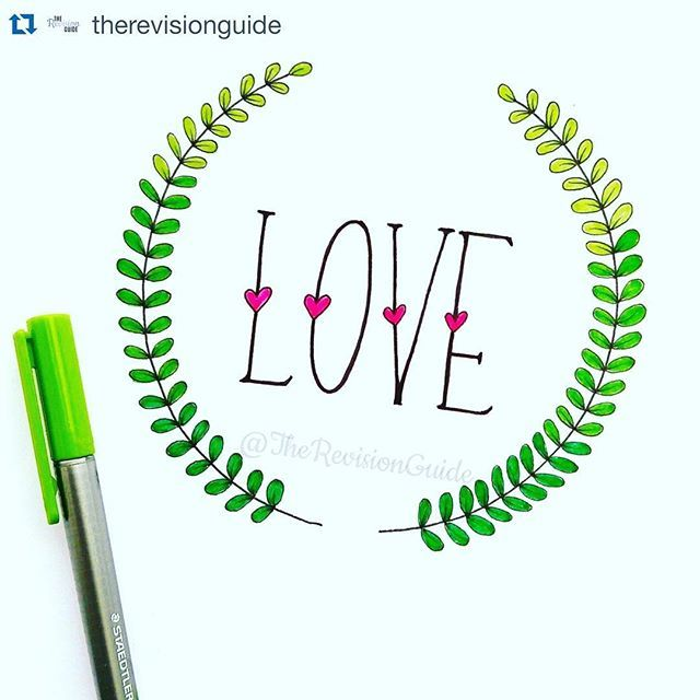 I probably repost @therevisionguide more than any other account. It's not because she has the fanciest #doodles or even the the most colorful. But she does have the most adorable doodles and the eaist to follow tutorials. If you aren't following her, you