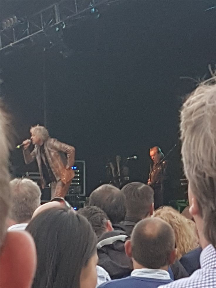 Bob even rocked up in a snakeskin suit for the #boomtownrats performance @leopardstownlrc