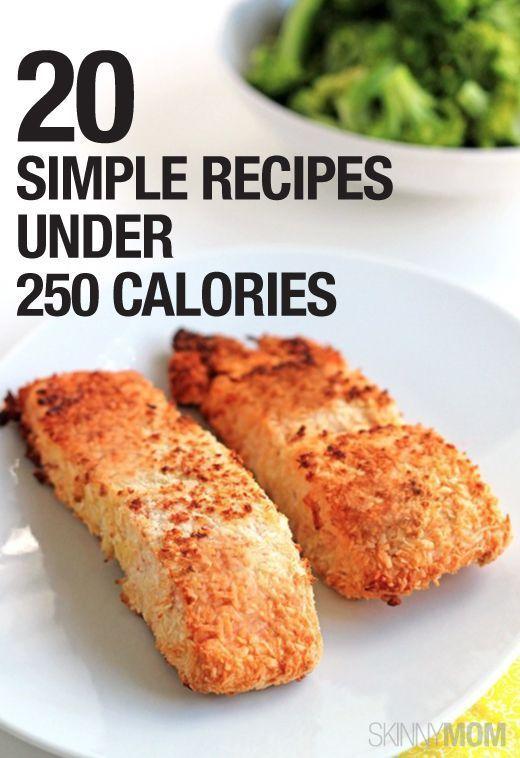 20 SIMPLE recipes under 250 calories.