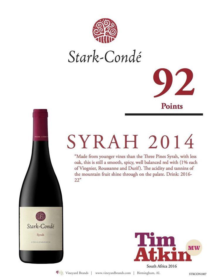Stark Conde Syrah 2014 92 points - Tim Atkin