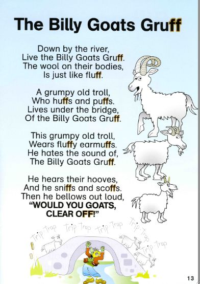 Moturoa's Blog: The Billy Goats Gruff