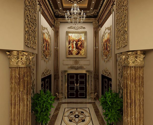 Oyal classical design following neoclassical interior for Ancient roman interior decoration