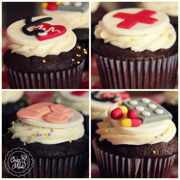 ¡Inspirados en aquellos que con gran vocación dedican parte de su vida a cuidar de nosotros!   #Cali #Cupcakes #profesionales #medicina #salud #repostería #enfermería