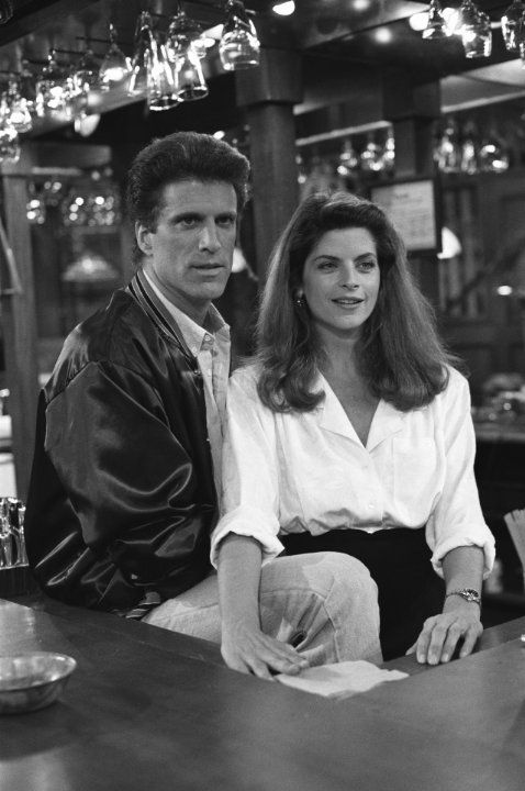 Still of Kirstie Alley and Ted Danson in Cheers (1982)
