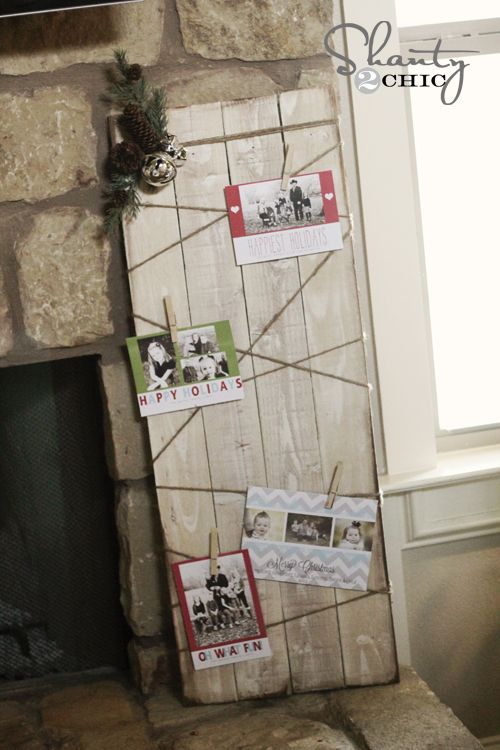 Christmas Card Holder - DIY Christmas diy for me Pinterest